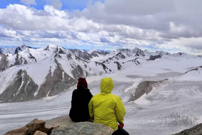 Overlooking the Tavan Bogd Mountain ranges