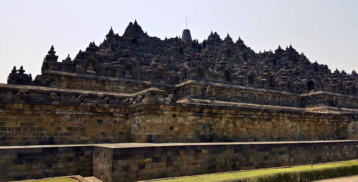 Borobudur temple and its layered structured.
