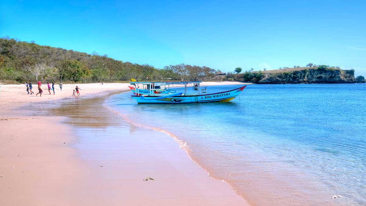 The famous pink beach in Lombok