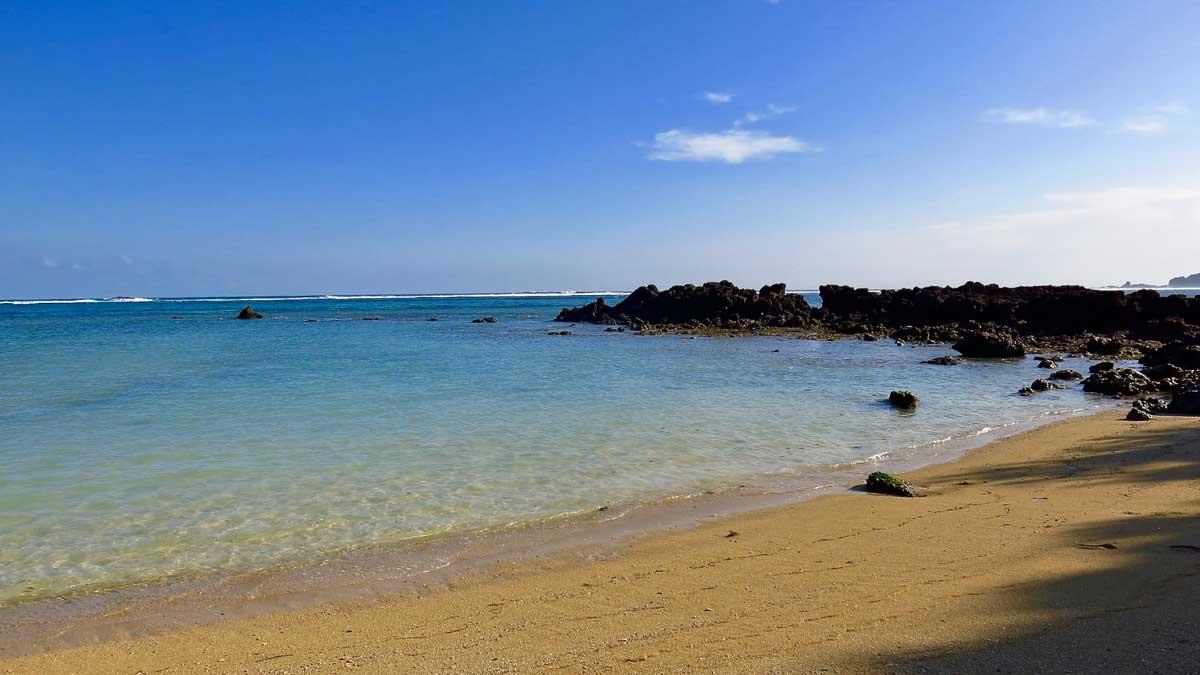 Mandalika beach and the remains of the Mandalika cliff