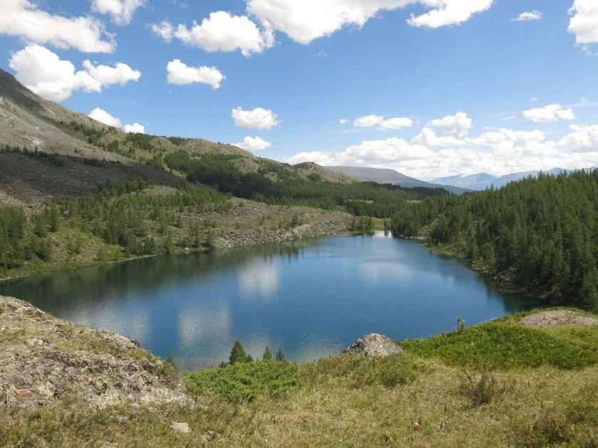 Mesmerizing lake along Tavan Bogd trek, Mogolia
