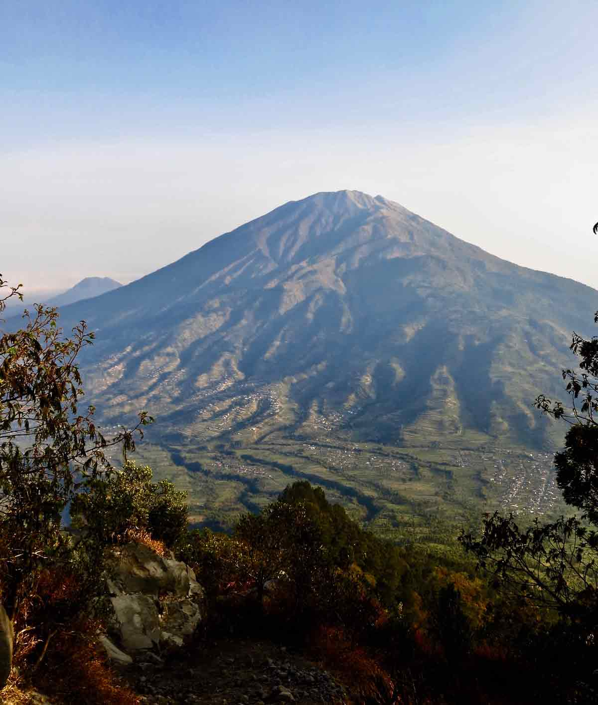 Mount Merbabu from Merapi