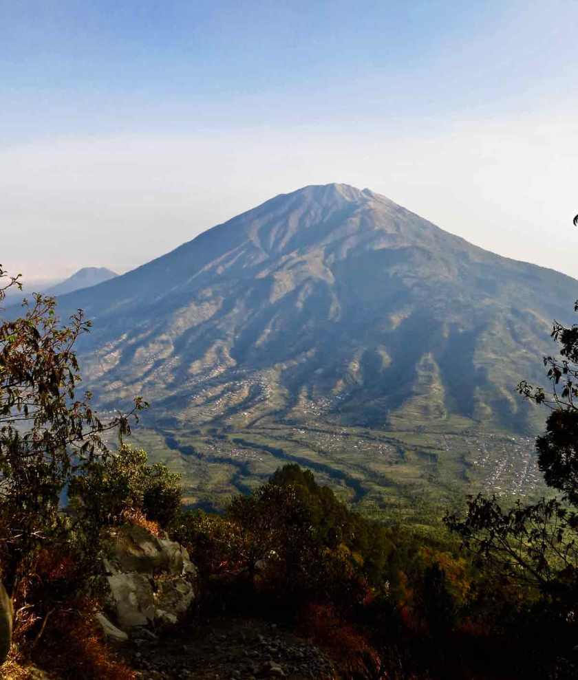 Mount Merbabu from Merapi