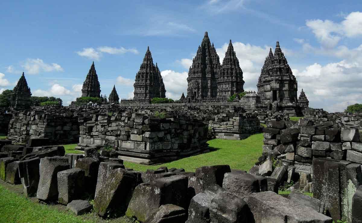 Majestic view of prambanan temple