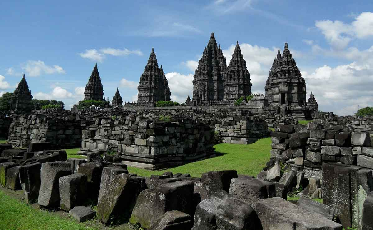 Majestic view of prambanan temple