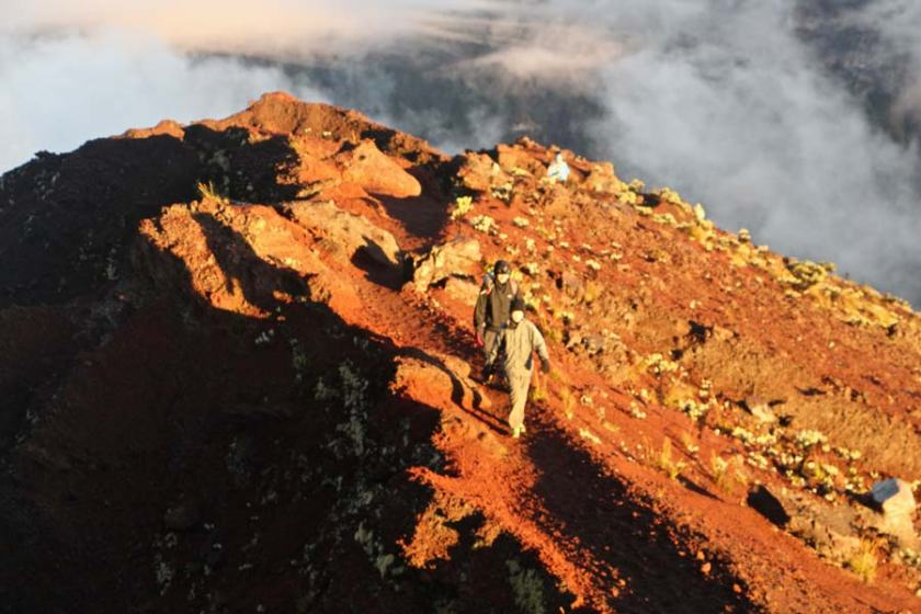 A couple's quest to conquer the Rinjani Summit