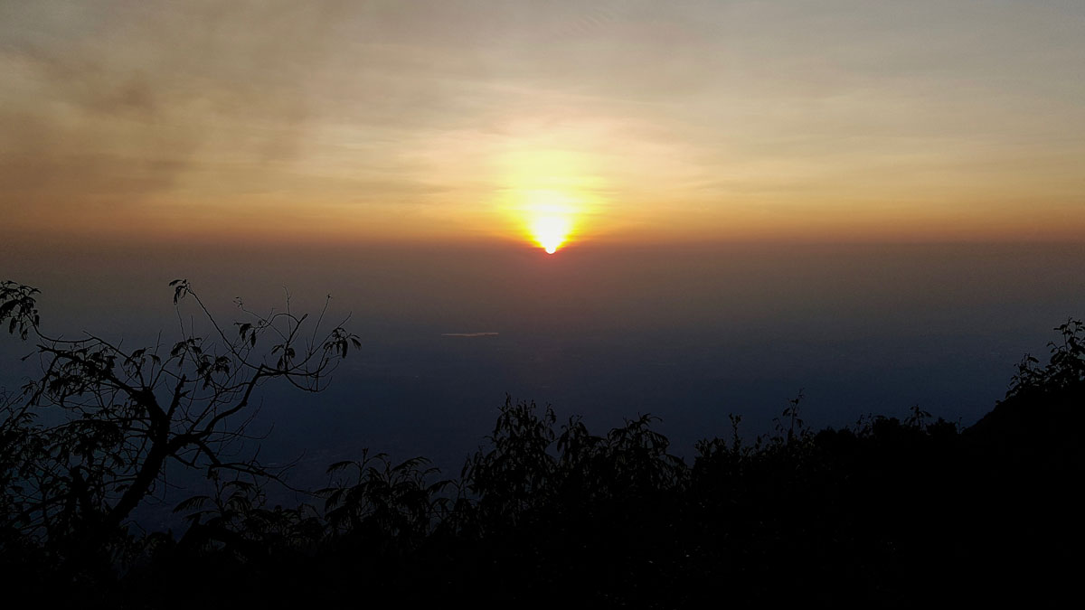 Sunrise at Merapi
