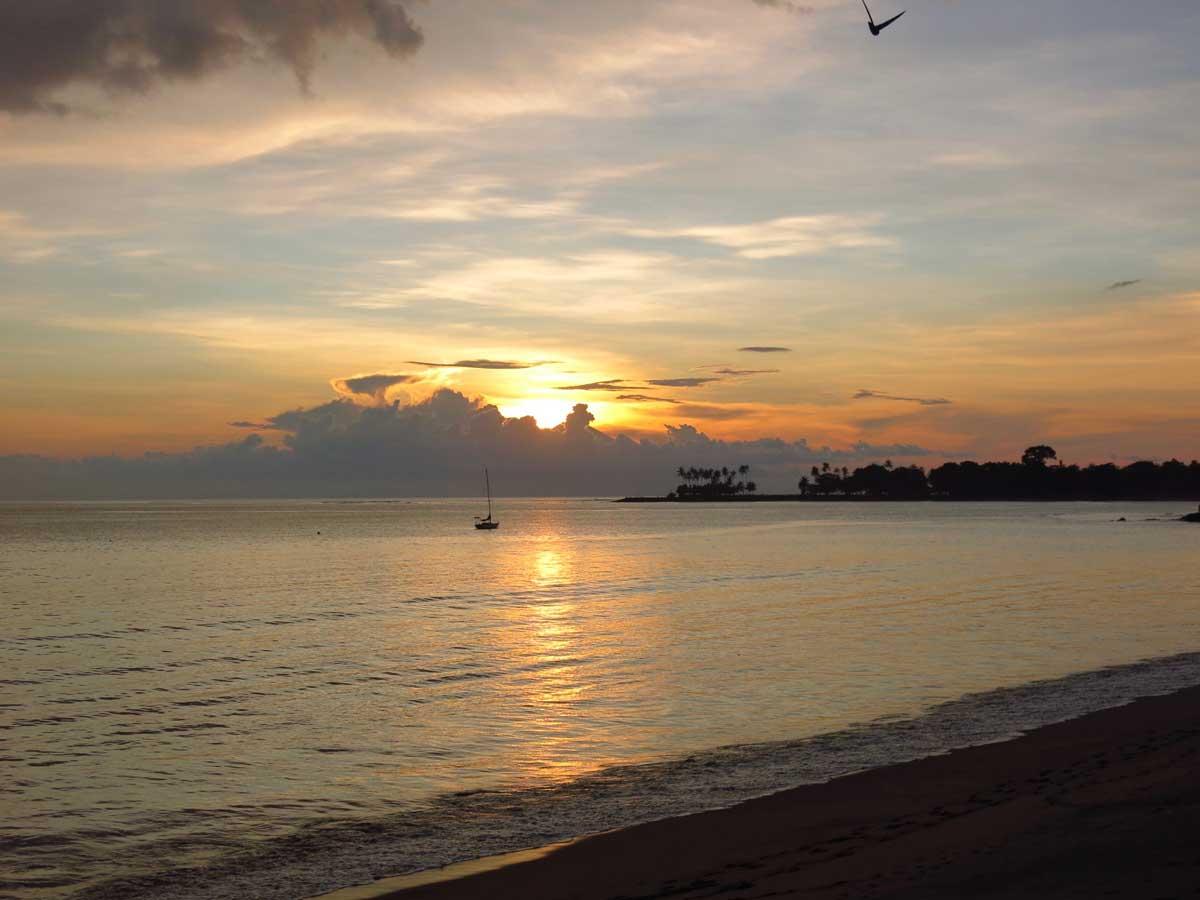 Sunset at Jo Je bungalow