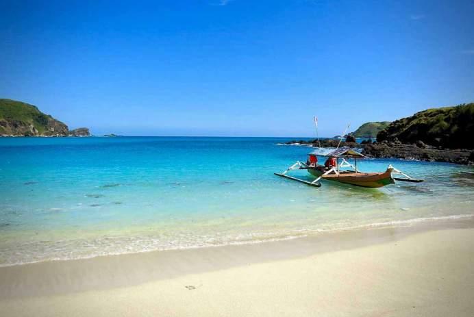 A quiet beach in Lombok