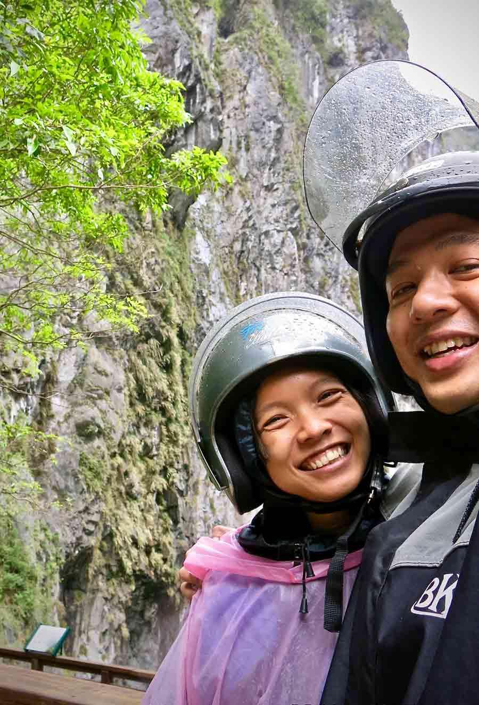 Riding up Taroko Gorge