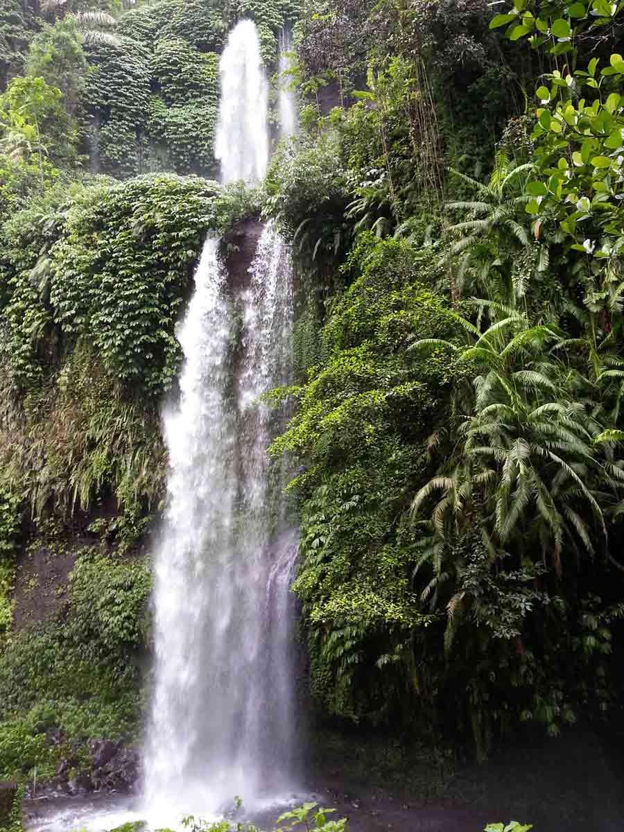 Hidden waterfalls within Rinjani National Park.
