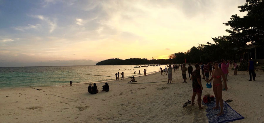 Sunset at Pattaya beach, Koh Lipe