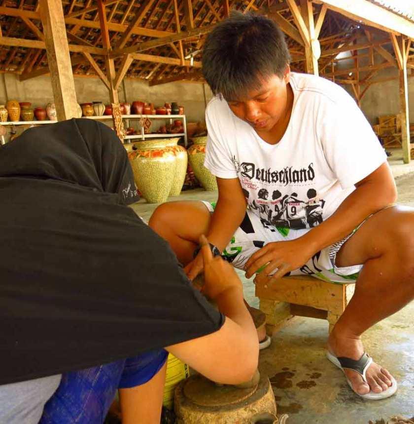 Pottery making at Banyemullek