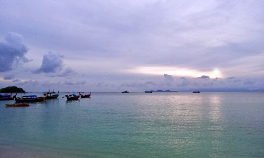 Sun rising in Koh Lipe