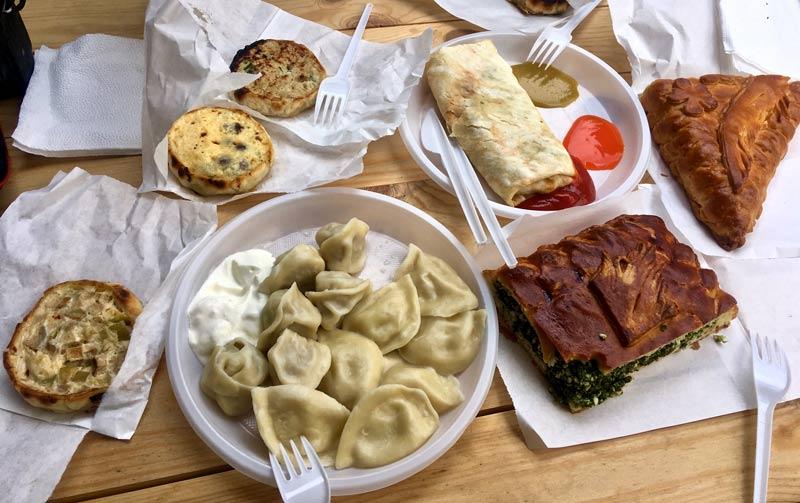 Food at Izmailovo market