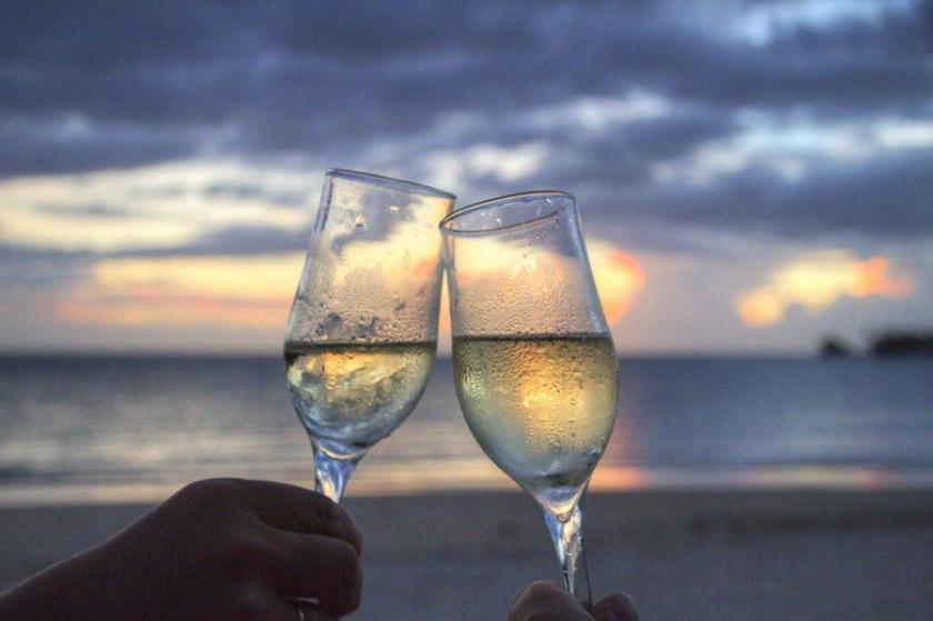 Wine glass honeymoon
