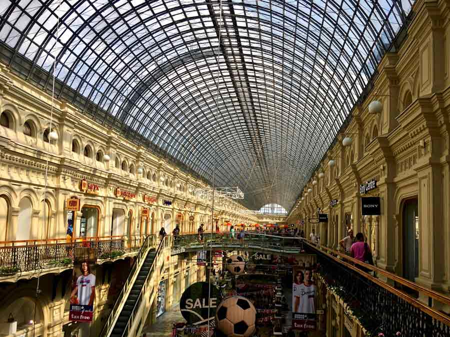 GUM, Moscow state departmental store @amarriedtraveller