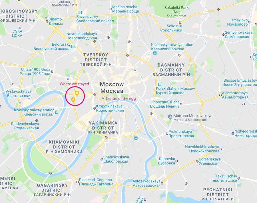 Map of Moscow central