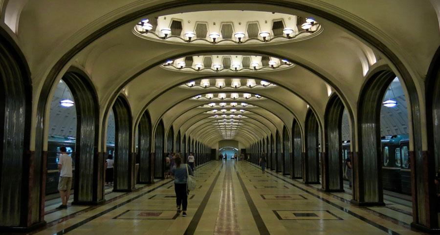 Moscow Metro railway subway @amarriedtraveller