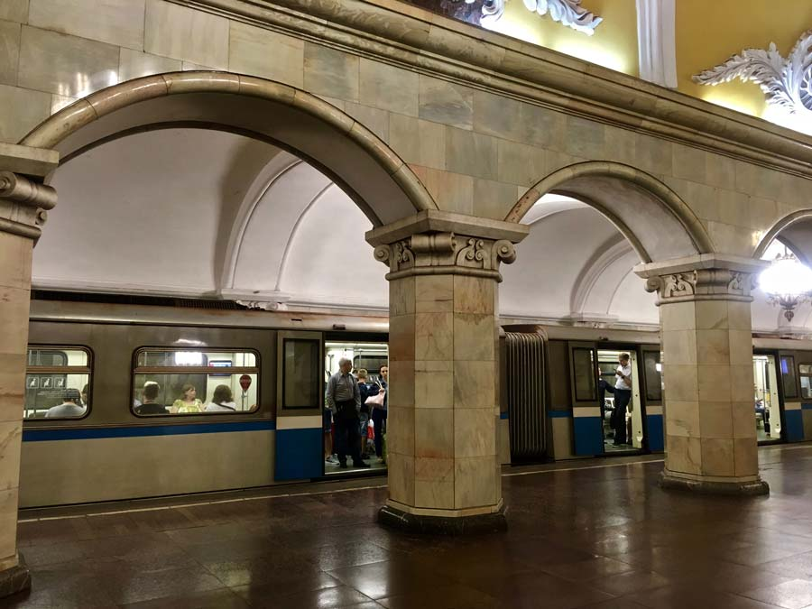 Moscow Metro, easy to get around. @amarriedtraveller