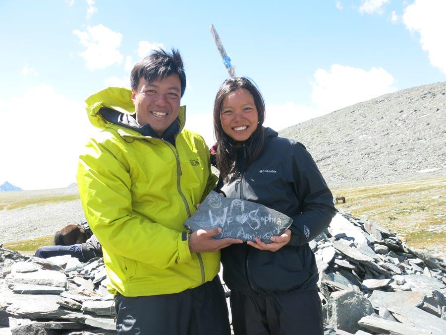 Trekking mongolia wedding anniversary
